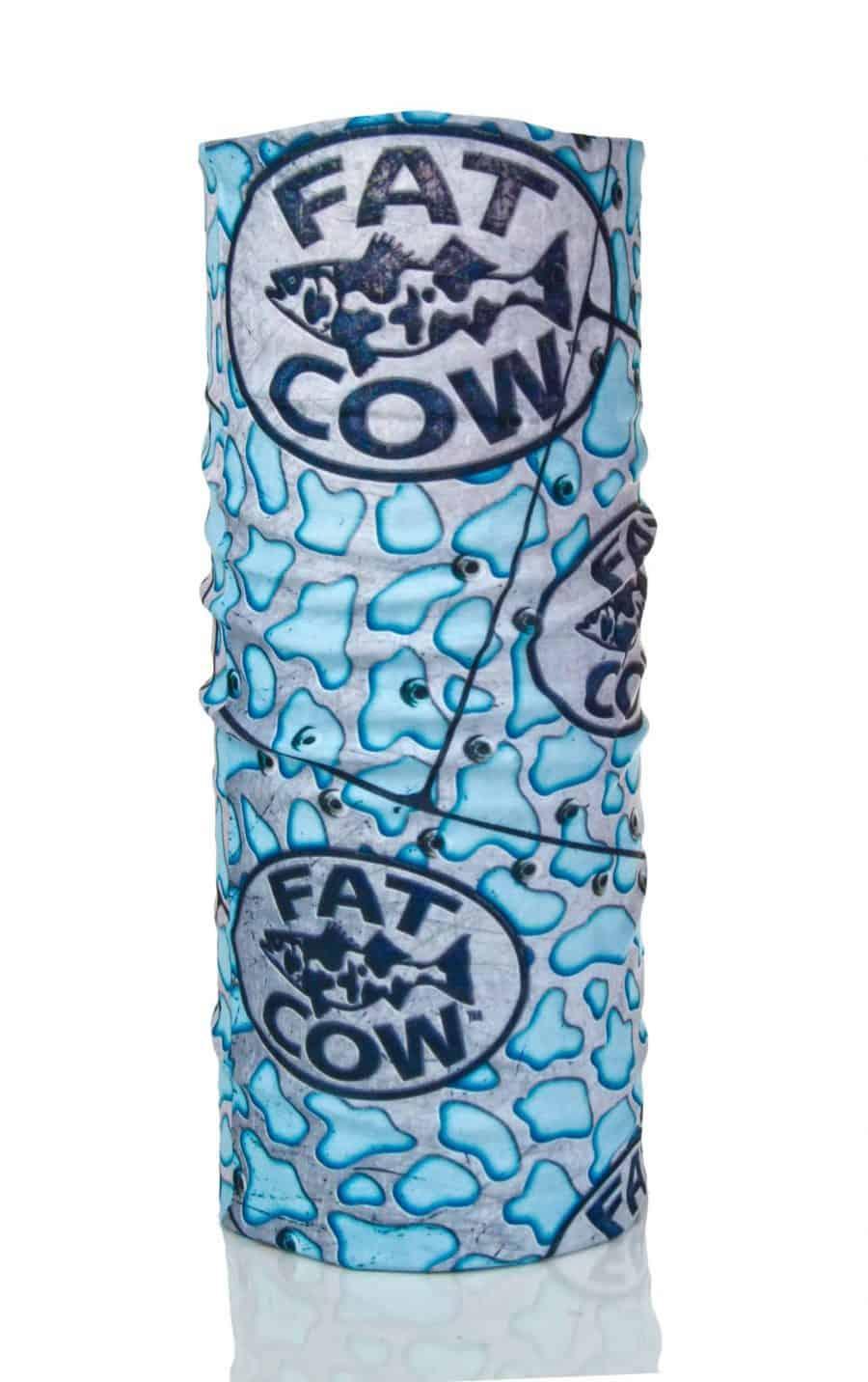 Fat Cow Fishing Face Mask Shield blue