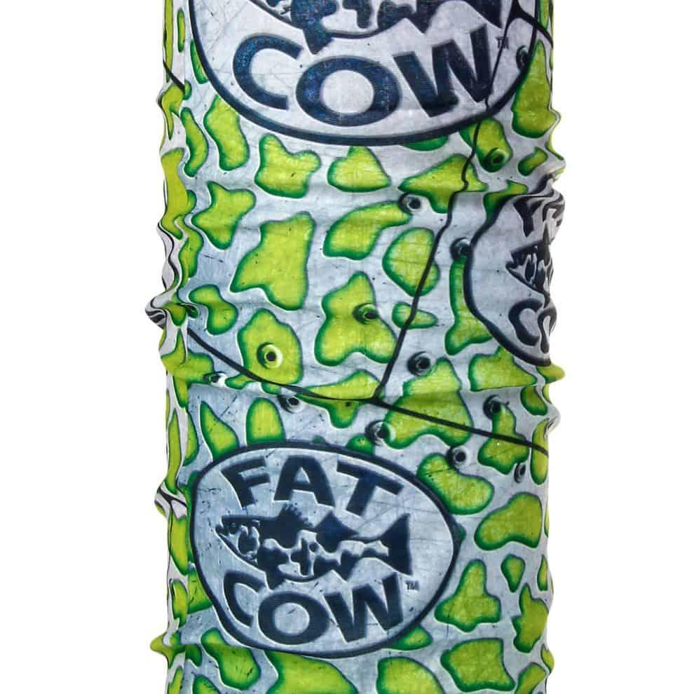 Fat Cow Fishing Face Mask Shield green