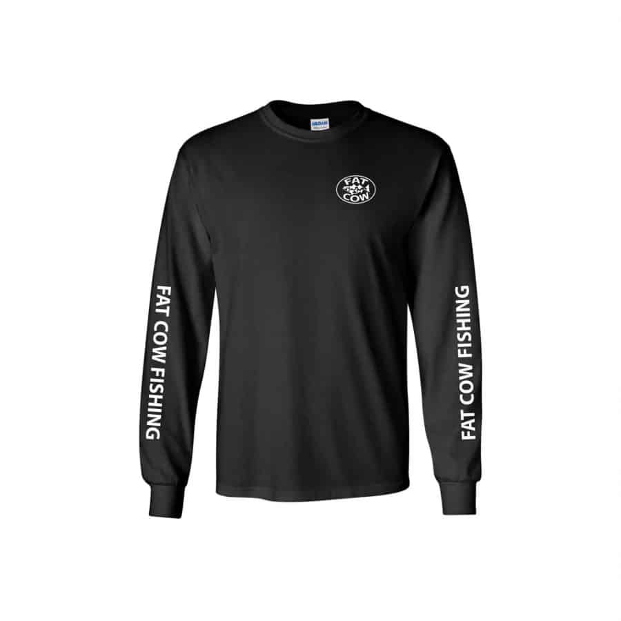 Fat Cow Fishing Logo Long Sleeve Shirt