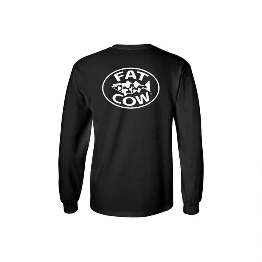Fat Cow Fishing Logo Long Sleeve Shirt